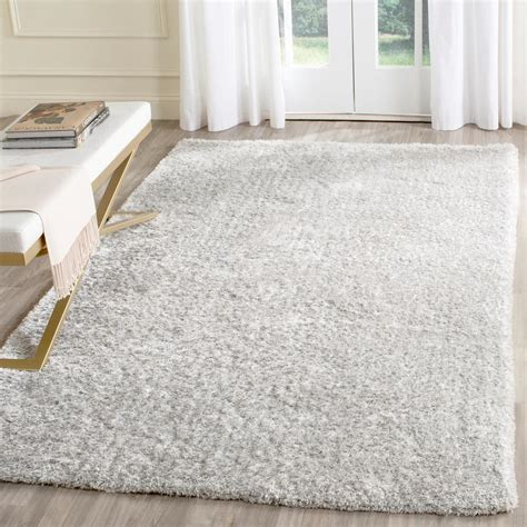 Light Grey Area Rugs by Safavieh Toronto Shag Light Gray 8 Ft X 10 Ft Area Rug