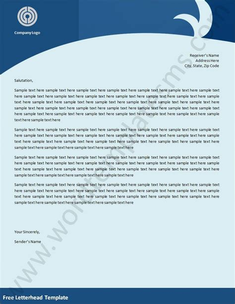 7 best images of sle business letterhead templates