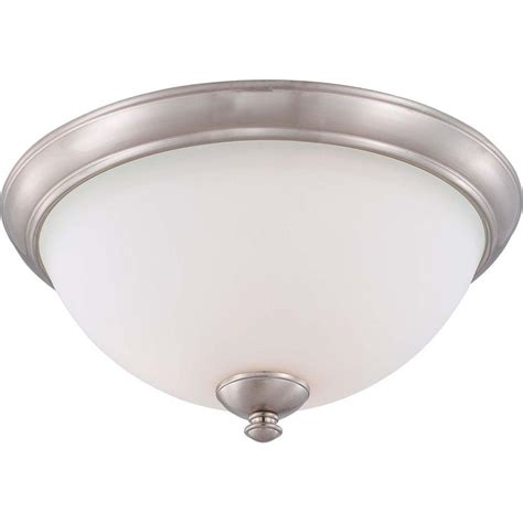 mount airy 4 light flush mount progress lighting wisten collection 3 light brushed nickel