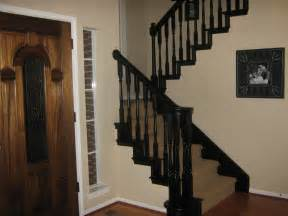 Black Balusters Paint Stairs Black A Can Do It