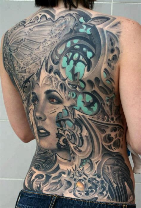 tattoo 3d full back full back cover up with 3d girl tattoo truetattoos