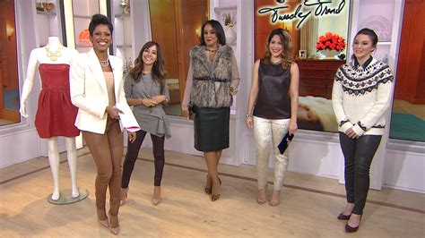 tamron hall leather tamron hall shares 3 leather looks for your holiday party