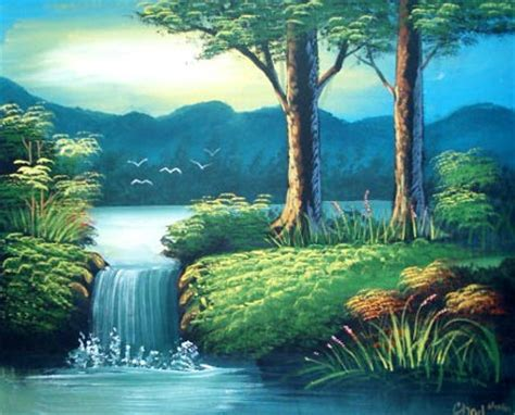 Canvas Painting For Home Decoration by Acrylic Landscape Paintings Oriental Serenity