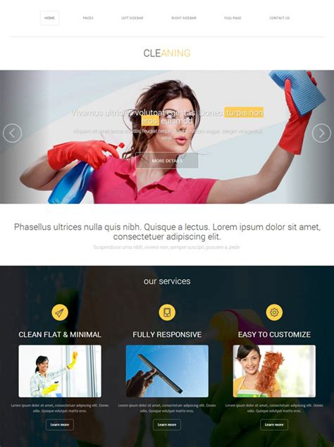 Cleaning Chemical Website Template Cleaning Website Templates Dreamtemplate Housekeeping Website Templates Free