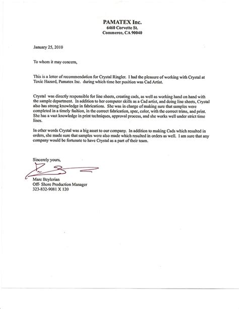 Recommendation Letter On Work Ethic My Recommendation Letters On Behance