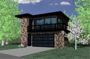 Apartment Garage Contemporary Garage W Apartments Modern House Plans Home