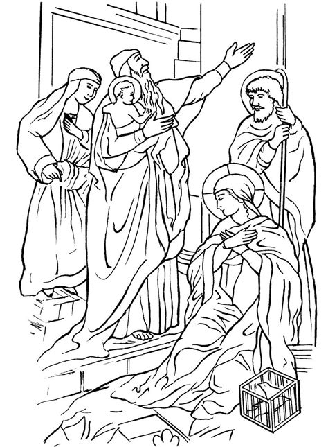 free coloring pages of anna and simeon