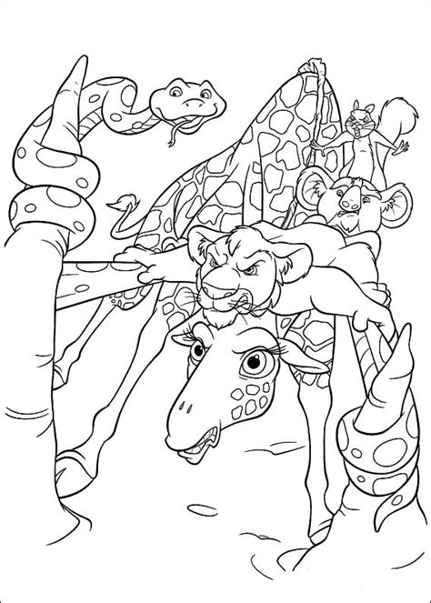 coloring page the wild coloring pages 5