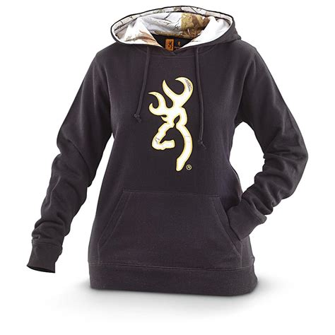 s browning buckmark snow hooded sweatshirt 608321