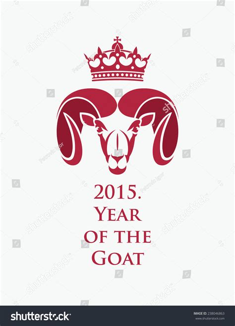 year goat chinese zodiac 2015 vector stock vector