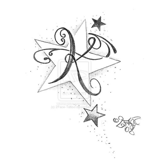single star tattoo designs new letter design by 2face on deviantart