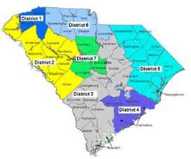 carolina school district map hearing districts