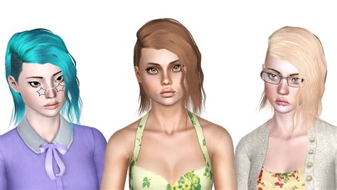 shaved hair sims 4 zauma 24 half shaved hairstyle retextured by forever and
