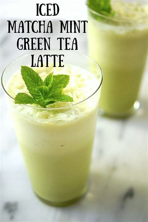 Thai Tea Matcha Coffee Choco iced matcha mint tea latte
