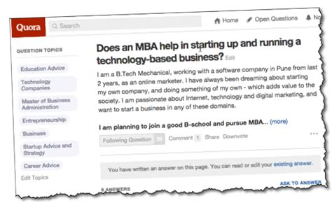 Mba For Tech Quora by How Much Value Of An Mba Degree For High Tech Business