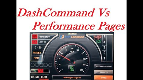 performance pages    dashcommand app iphone youtube