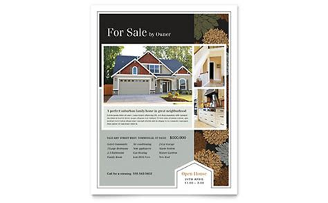 Real Estate Leaflet Templates Word Publisher Microsoft Real Estate Templates
