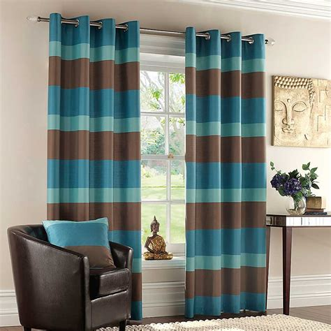 brown and teal curtains 5 styles of faux silk curtains