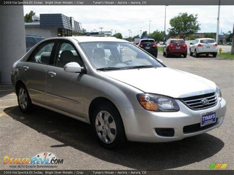2009 Kia Spectra Ex 2009 Kia Spectra Ex Sedan Bright Silver Metallic Gray