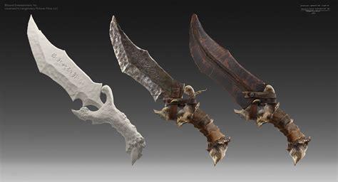 artstation warcraft  weapon design jonathan berube