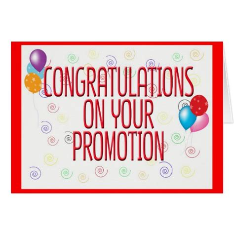 Congratulations Promotion by Congratulations On Your Promotion Card Zazzle