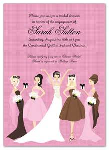 invitations for bridesmaids bridal showers and