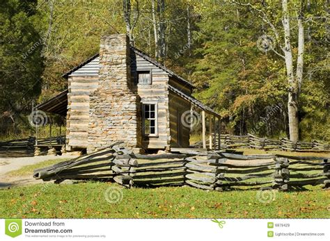 Great Smoky Mountains Log Cabin Log Cabin Cades Cove Great Smoky Mountains Stock Image