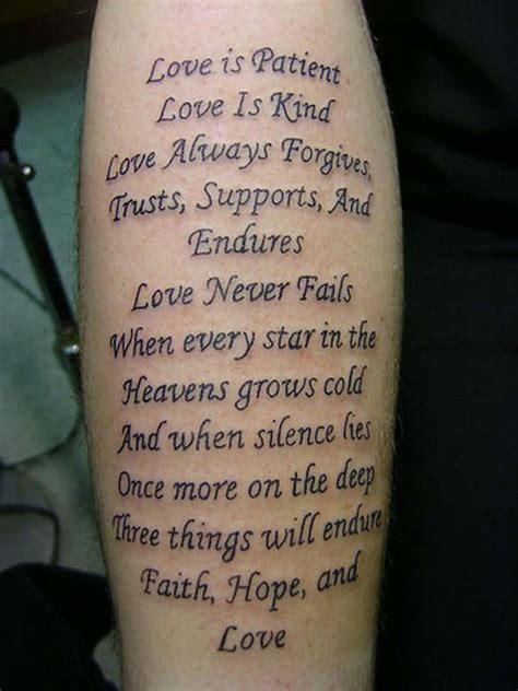 love is patient love is kind tattoo 36 unisex best tattoos designs