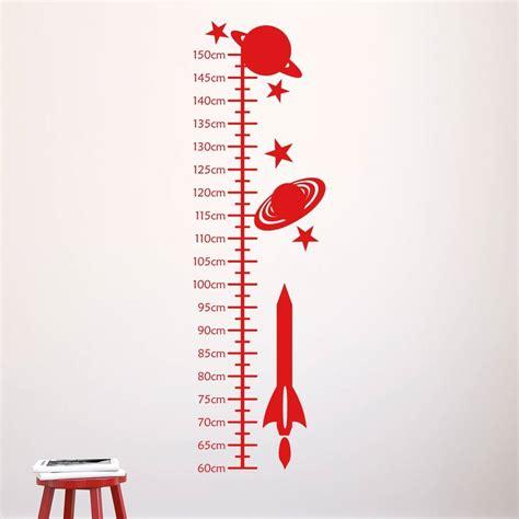 Mirror Wall Sticker space rockets kids height chart by mirrorin