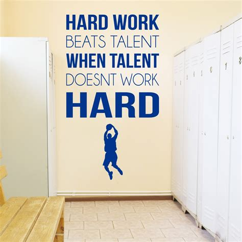Inspirational Quotes Wall Stickers hard work sports inspirational quotes wall sticker home