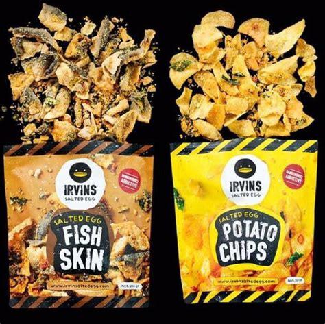 Irvin Salted Egg Fish Skin irvin salted egg fish skin n potato chips food drinks
