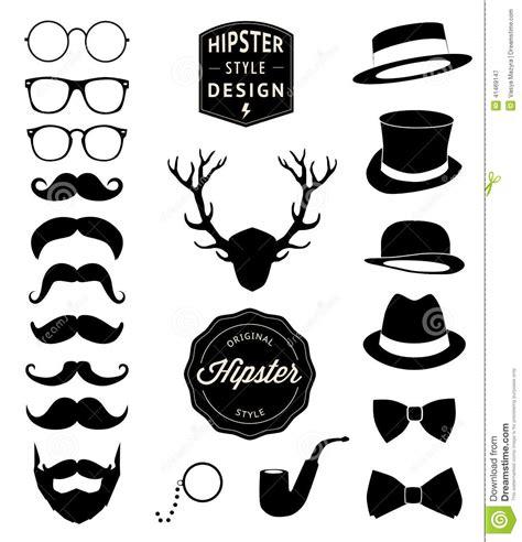 hipster design elements vector set of collection vintage fashion elements vector