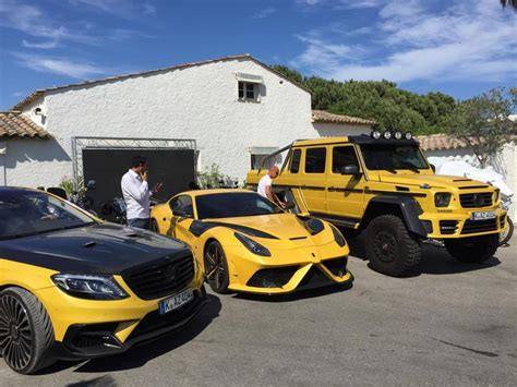 mansory mercedes g63 yellow mansory f12 stallone and mercedes g63 amg