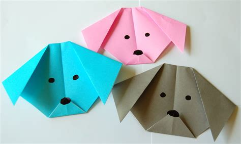 Origami Dogs - make an origami bookworm