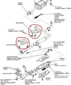Honda Odyssey Exhaust System Diagram Honda Crv 2008 Catalytic Converter Heat Shield Hondacarz Us