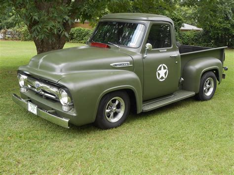ford military 1953 ford f100 truck rat rod military custom