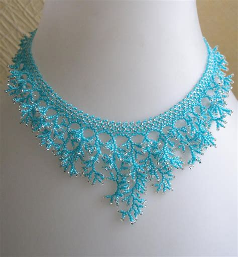 seed bead choker patterns pattern for a seed beaded necklace detailed