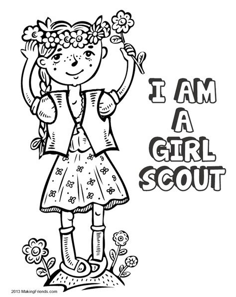 girl scout coloring pages az coloring pages