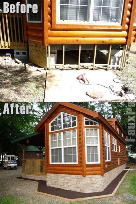 mobile home skirting brick rock and panel options