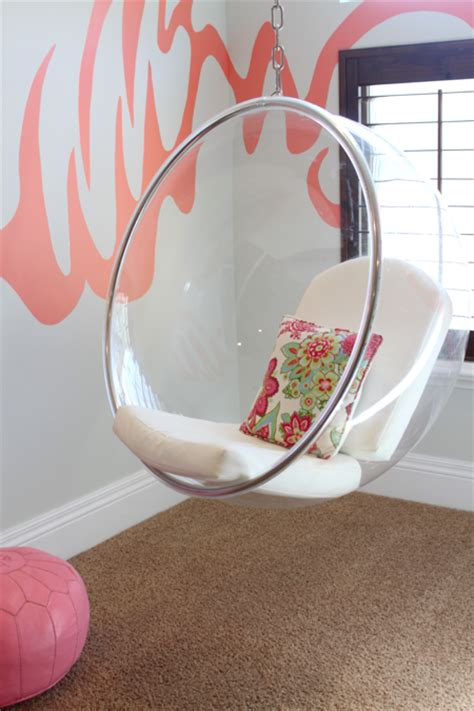 chairs for girls bedroom eero aarnio bubble chair contemporary girl s room