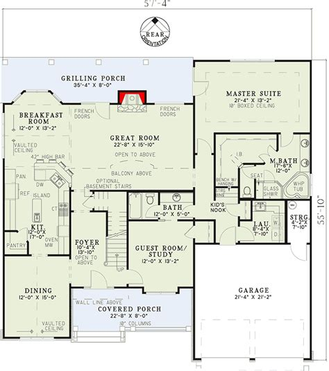 house plans with media room unique inviting house plan 59657nd 1st floor master