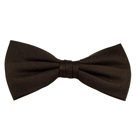 Bow Tie plain brown silk bow tie from ties planet uk