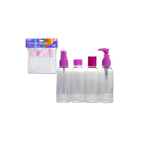 Set Of 4 Travel Bottle 96 units of 4pc travel bottle set at alltimetrading
