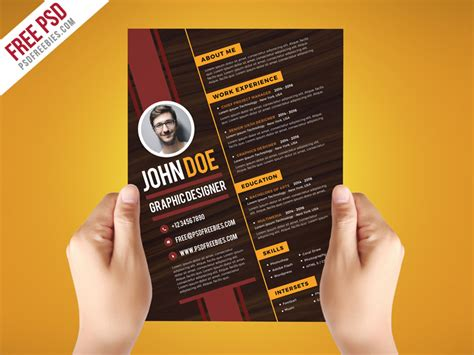 free graphic design resume template psd free psd creative graphic designer resume template psd