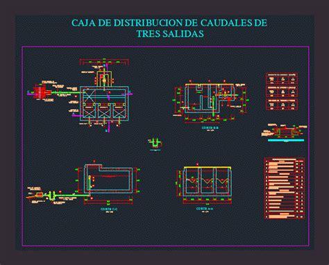 flow distribution box dwg detail  autocad designs cad