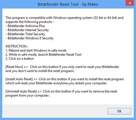 bitdefender reset tool rv1 sutan software bitdefender 2014 reset tool