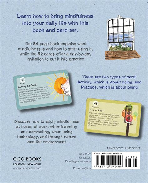 mindfulness on the go includes 52 cards and a 64 page illustrated book all in a flip top box with an easel to display your mindfulness cards mindfulness on the go