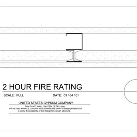 2 hour ceiling usg design studio 2 hr details