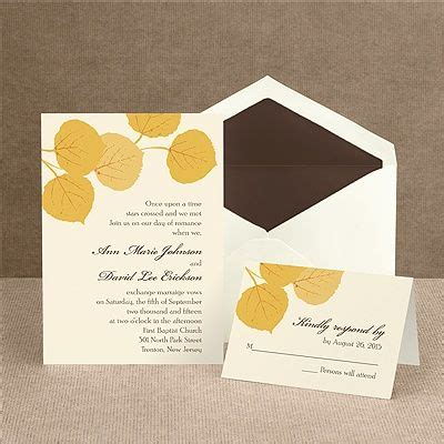 aspen leaf wedding invitations fall leaves invitation margaritaville to be trees and aspen trees