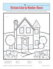 color by number division coloring pages color by number house printable